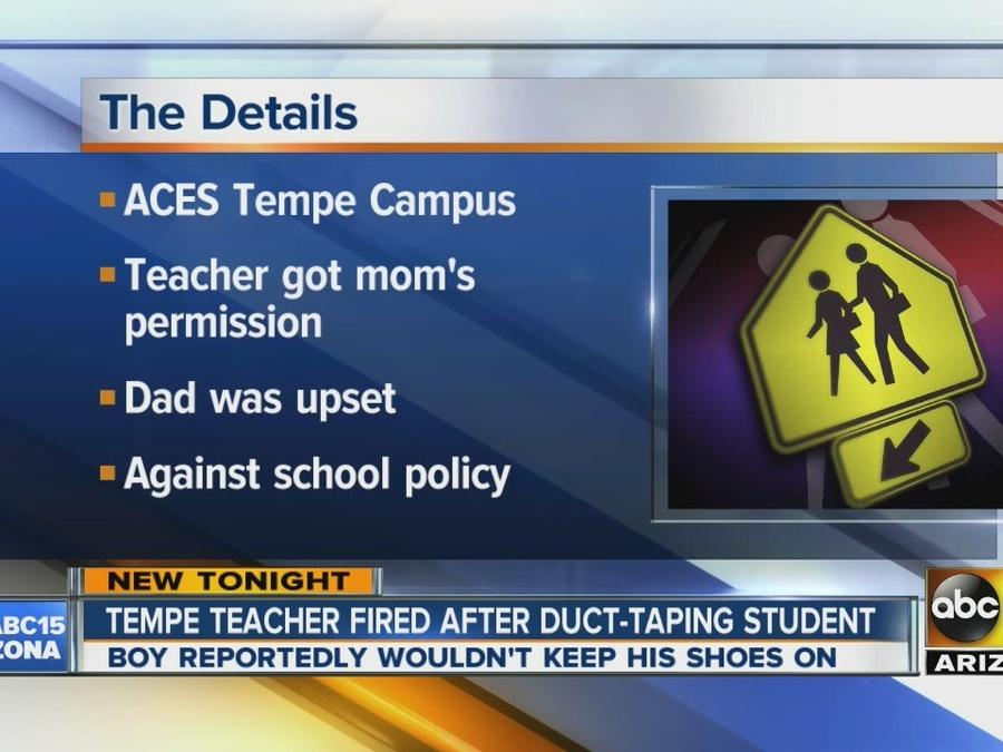 Tempe teacher fired after duct-taping student