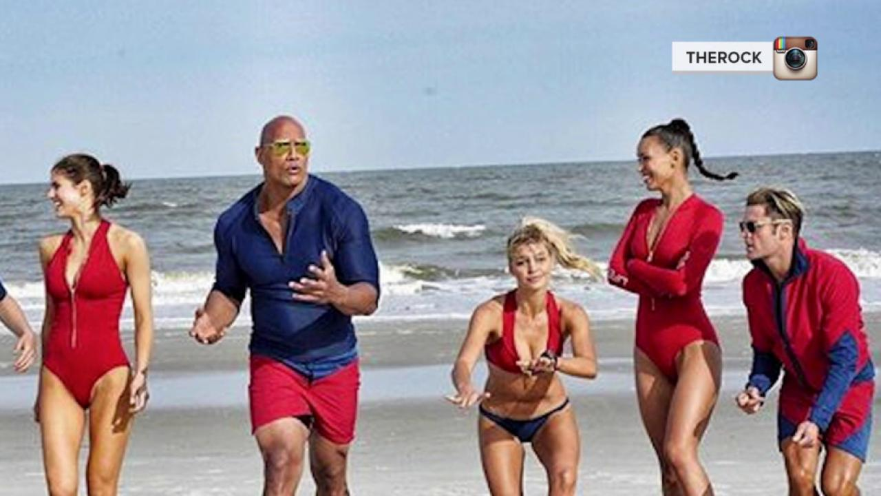 Dwayne 'The Rock' Johnson  Posts New 'Baywatch' Cast Photo