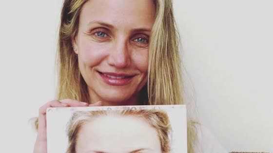 Cameron Diaz Shares Makeup-Free Selfie for New Aging Book