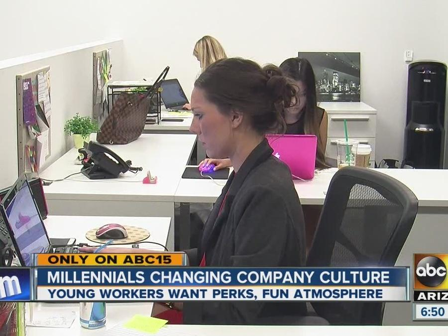 Millennials changing company culture