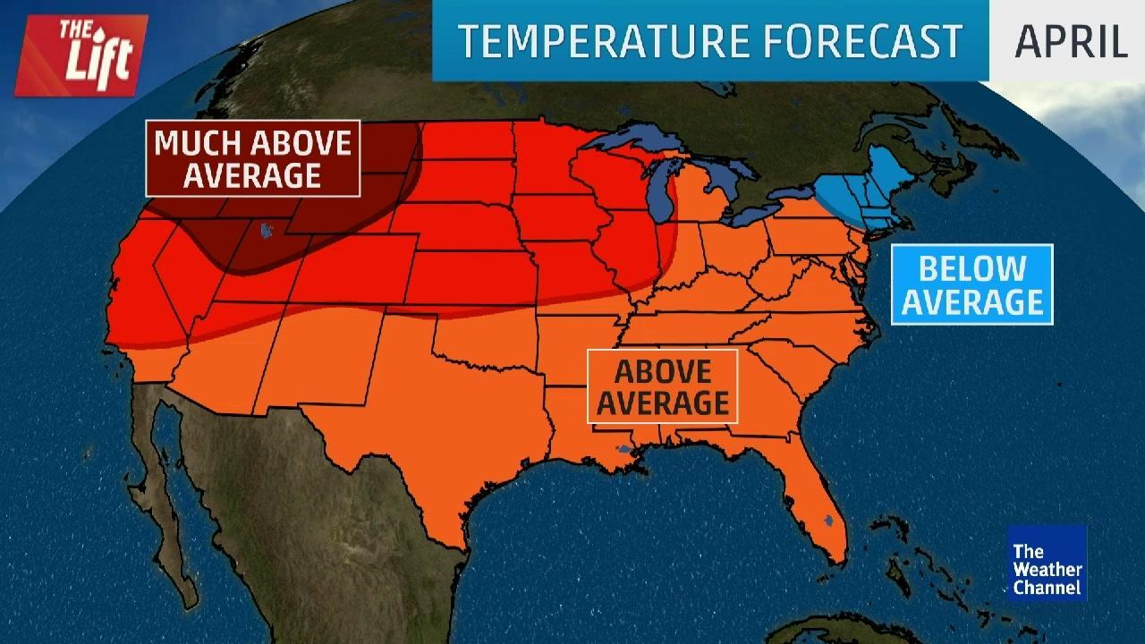 April Expected to Have Above-Average Temperatures