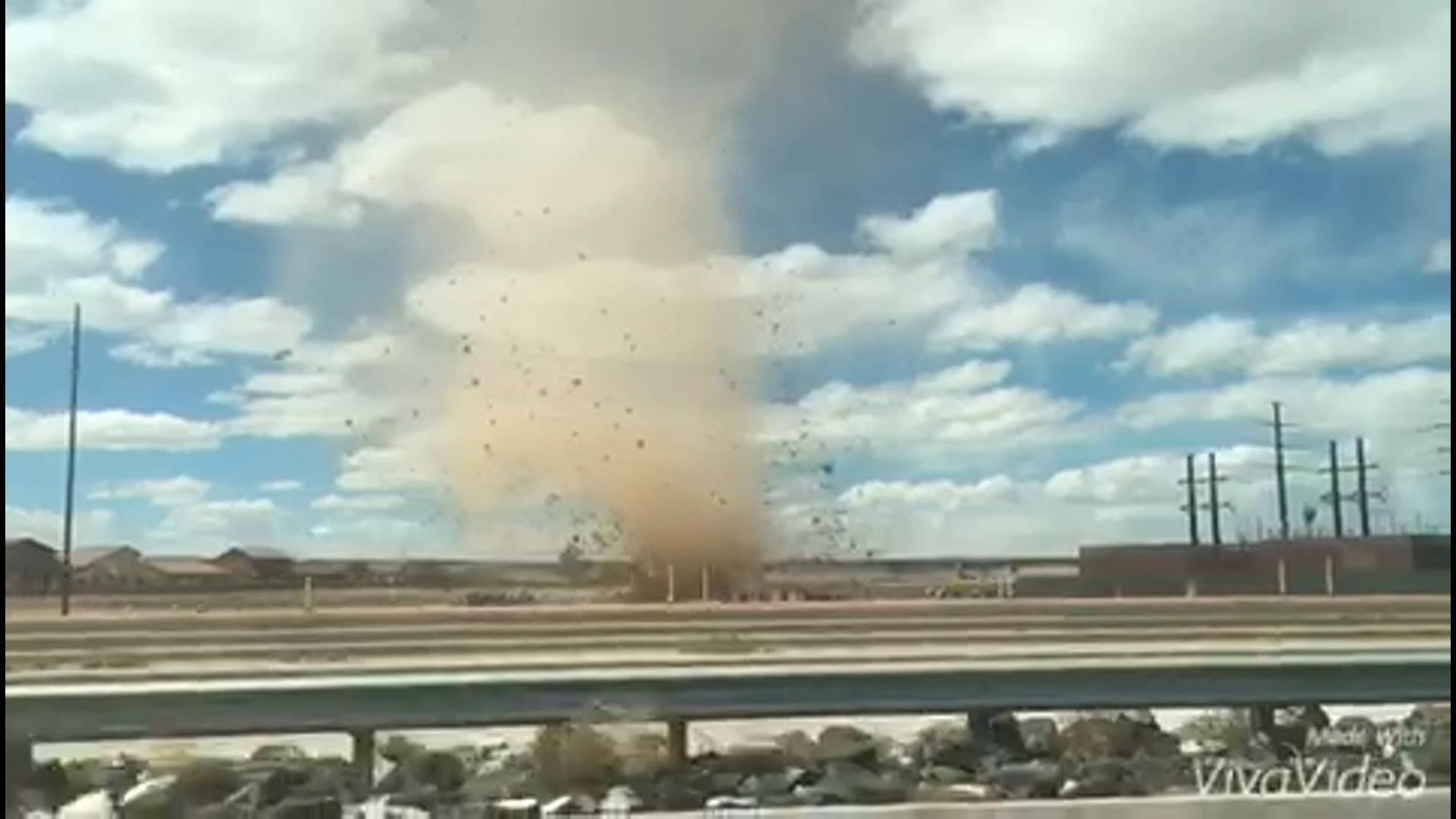 Dust Devil Caught on Camera