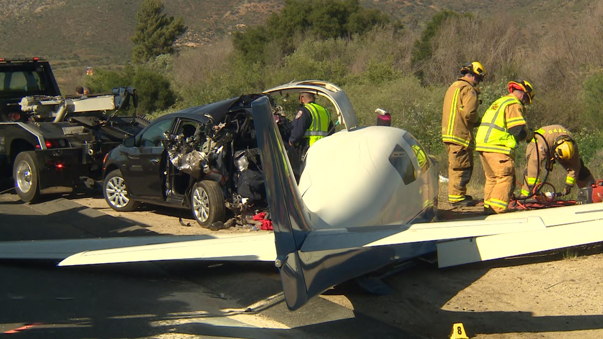 Plane Crashes Onto Car