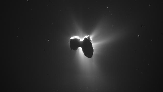 Rosetta Captures A Stunning Backlit View Of Comet 67P
