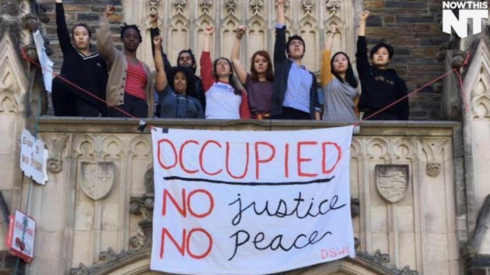 "Duke University Stage A Sit-In Protesting ""Racially Abusive"" Administrators"