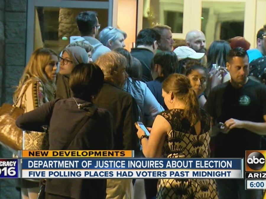 DOJ stepping in asking about AZ voting nightmare