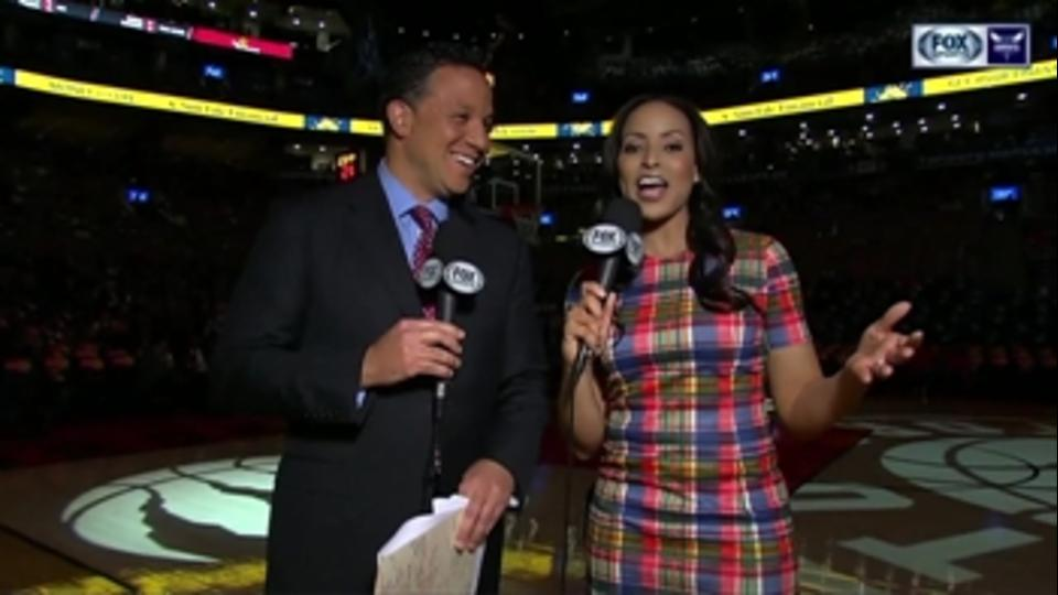 NBA sideline reporters dress up to support Sager