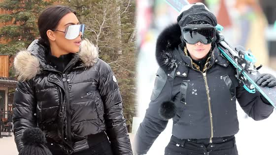 The Kardashian Sisters Bring Style to the Ski Resort