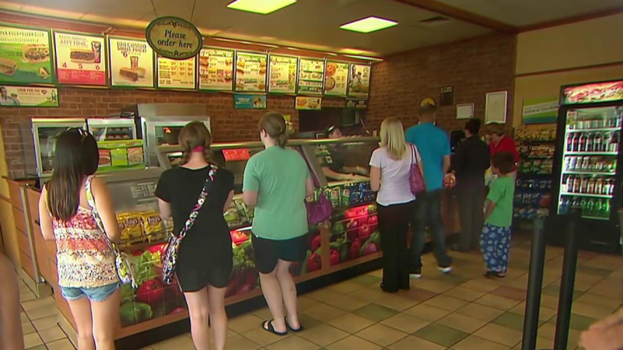 Subway Restaurant to Post Calorie Counts on Menu Boards