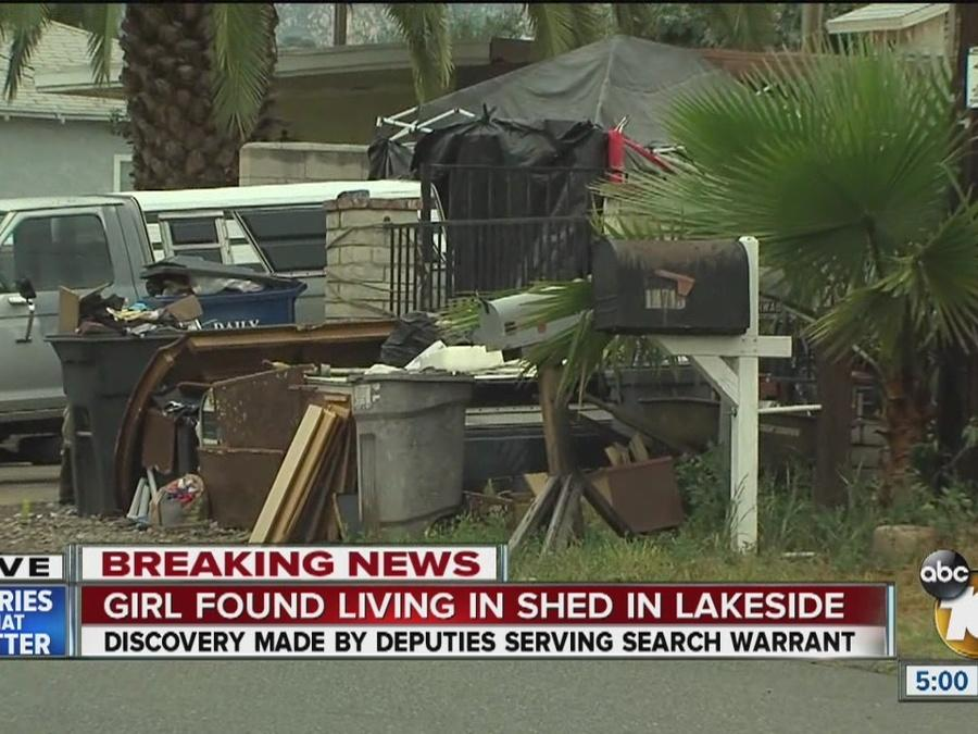 Girl found living in shed in Lakeside