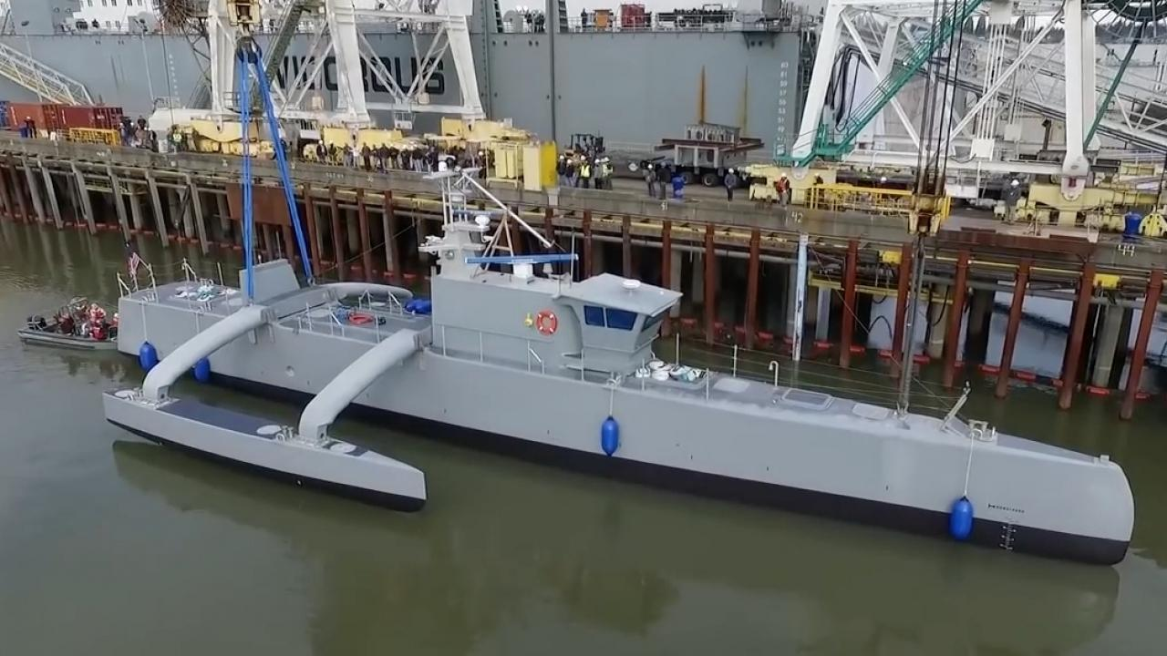 Meet the Navy's Self-Driving, Submarine-Hunting Warship