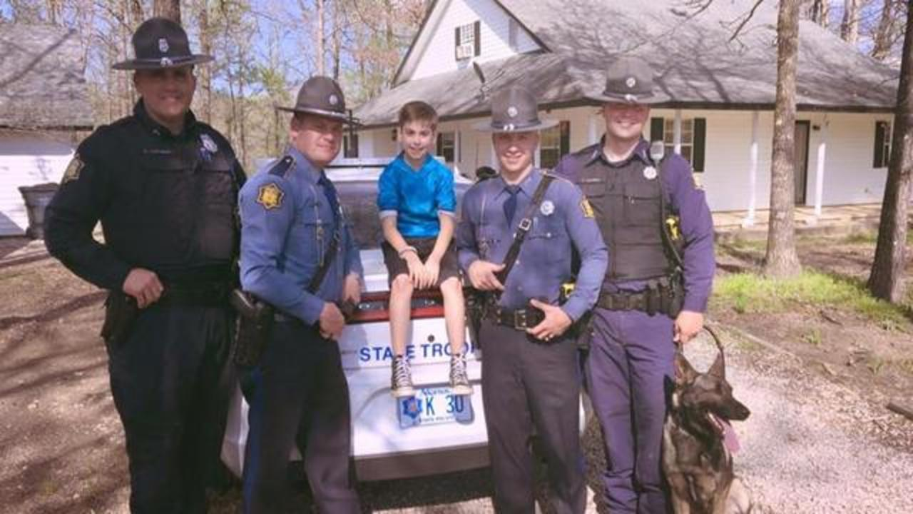 Troopers Throw Birthday Party For 10-Year-Old Boy After No One Showed Up