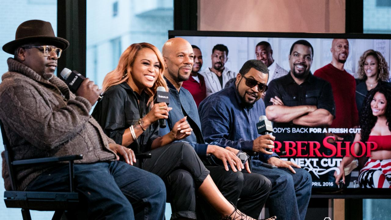 "Ice Cube, Common, Cedric The Entertainer And Eve On ""Barbershop: The Next Cut"""