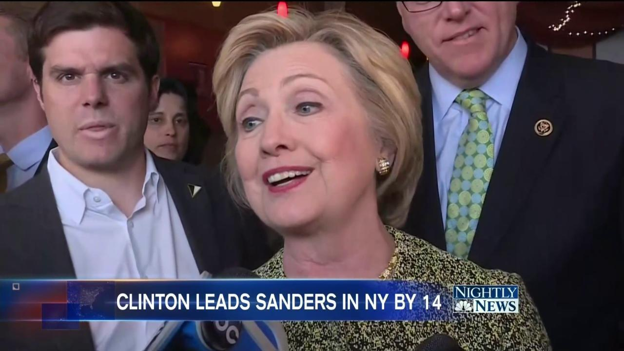 NBC Poll: Clinton Holds Double Digit Lead Over Sanders in New York