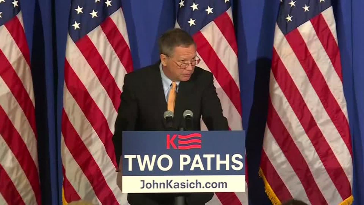 Kasich Says Will Not Take Low Road to Highest Office