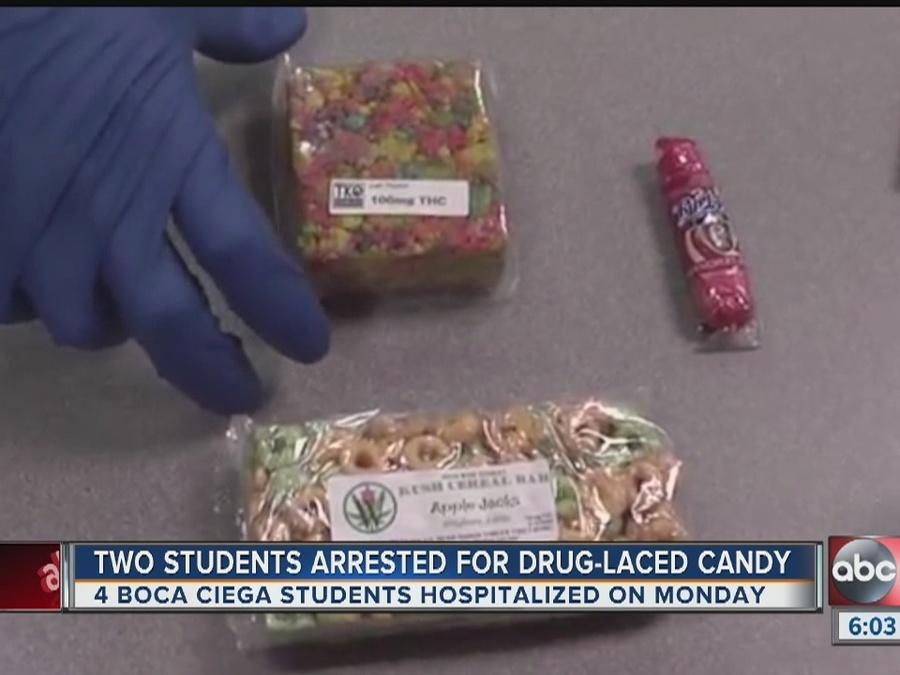 Several Boca Ciega students sick after eating drug-laced candy; two students charged