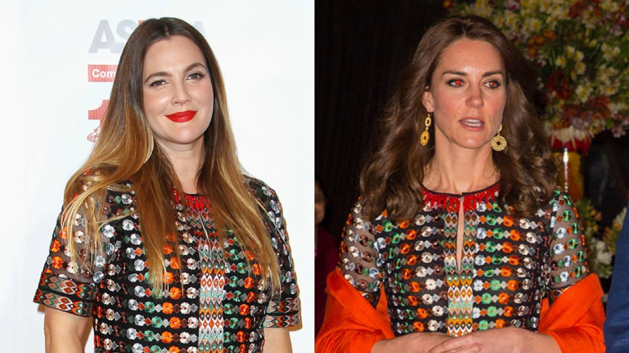 Drew Barrymore vs. Kate Middleton in a Fashion Face off