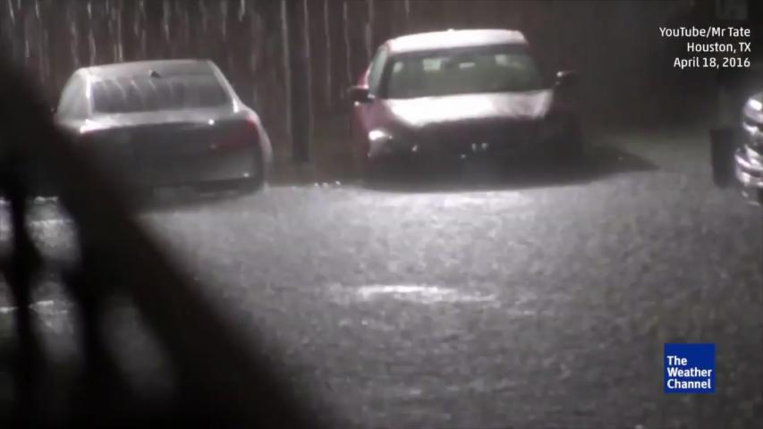 Heavy Rain and Flooding in Houston Texas