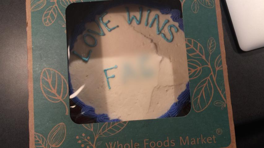 Whole Foods Customer Says He Received Cake With Homophobic Slur Written On It