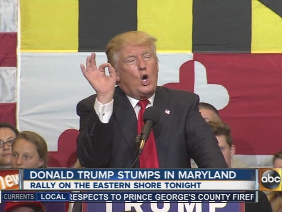 Donald Trump says Maryland voters are 'crucial' to campaign