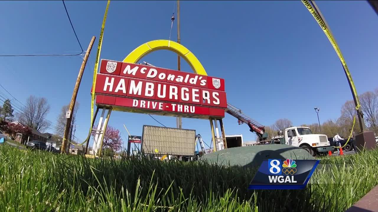 Rare, historic McDonald's sign comes down in Lancaster