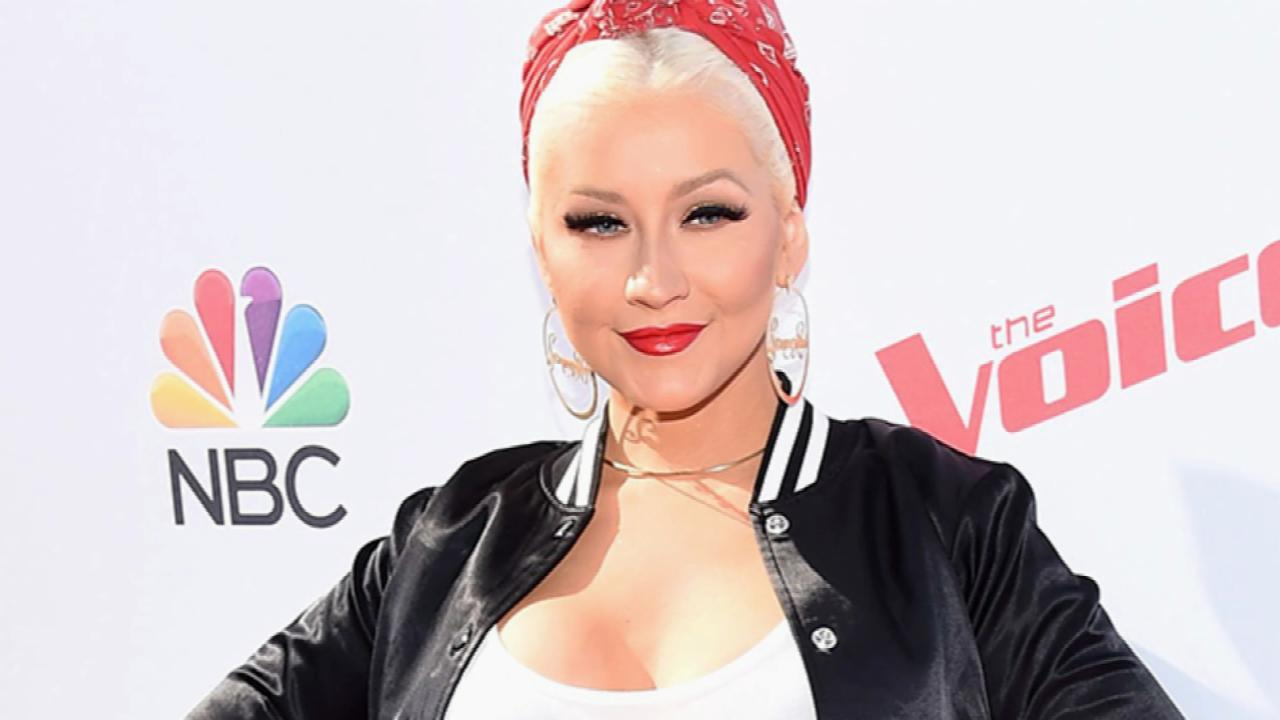 Christina Aguilera's Earrings Have Special Meaning
