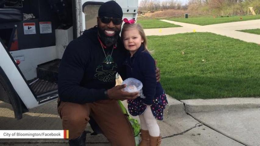 Story Of Friendship Between Toddler And Garbage Man Goes Viral