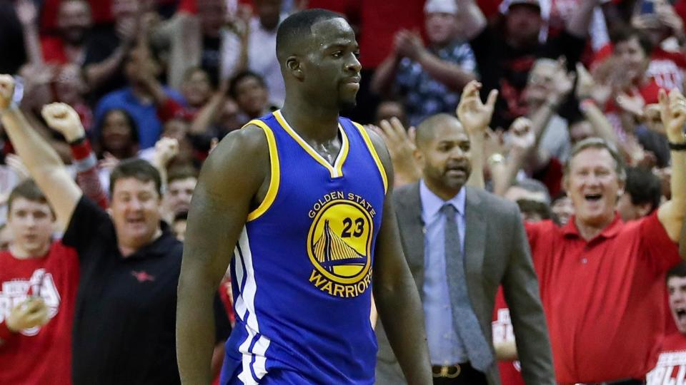 Watch: Warriors' Draymond Green responds to postgame question about Houston floods