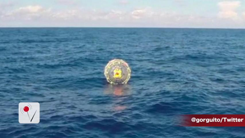 Man Inside Bubble Captured at Sea by United States Coast Guard