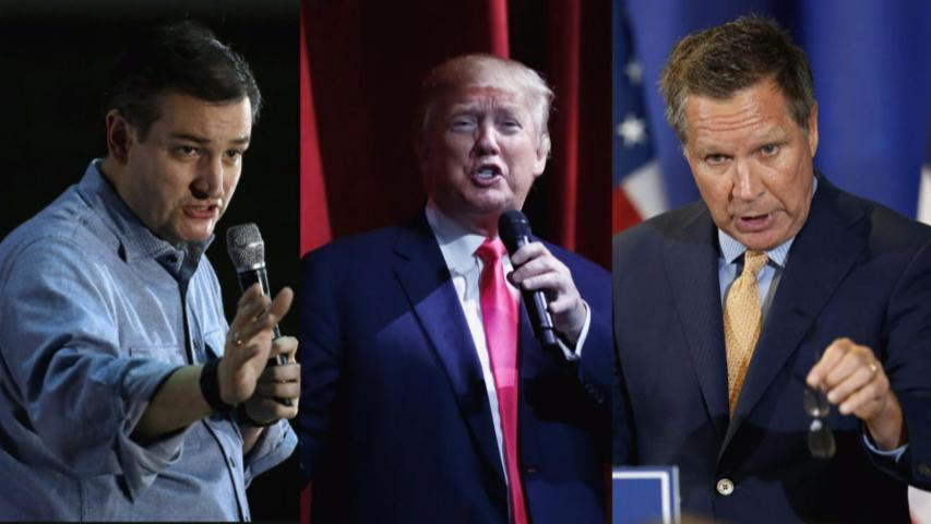 Donald Trump targets Kasich-Cruz 'collusion' ahead of 5 pivotal primaries