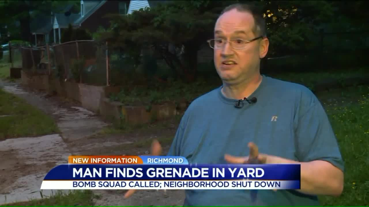Man Finds Grenade While Doing Yard Work