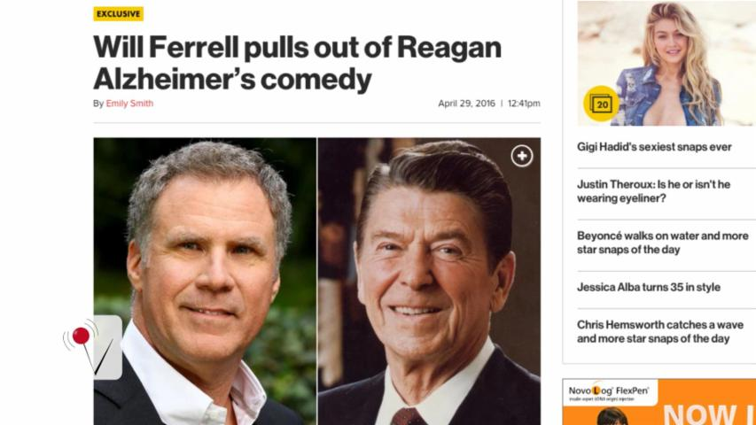 Will Ferrell Drops Out of 'Alzheimer's Comedy' About Ronald Reagan