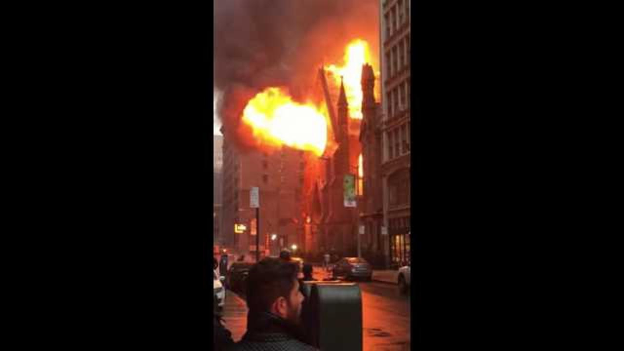 Video Shows Flames Consume Manhattan Cathedral