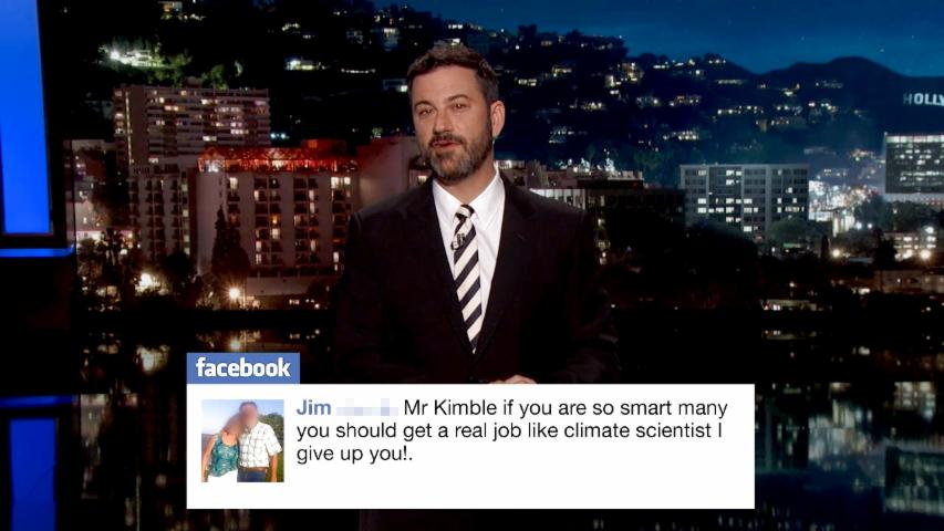 Jimmy Kimmel Reads Negative Climate Change Comments