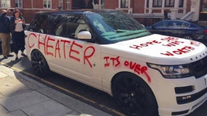 Woman Spray Paints 'Hope She Was Worth It' On A Range Rover In London