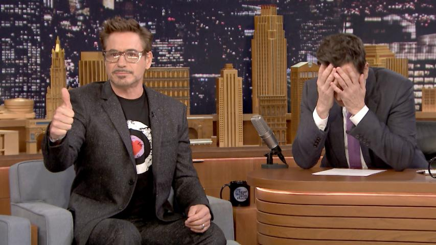 Robert Downey Jr. Coaches Jimmy Through Dramatic Acting Scenes
