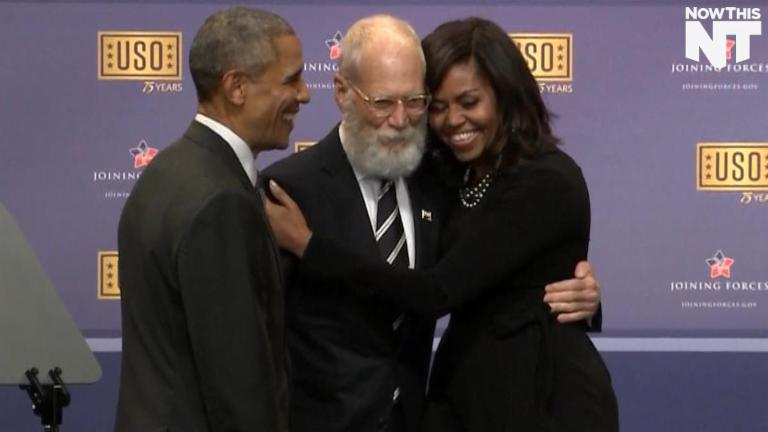 David Letterman Came Out Of Retirement For The Troops