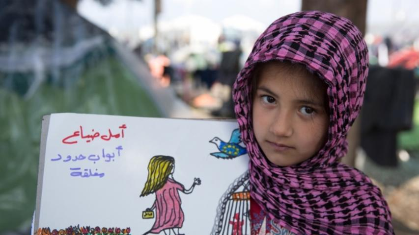 This 8-Year-Old Refugee Uses Drawings to Show Her Journey From Syria