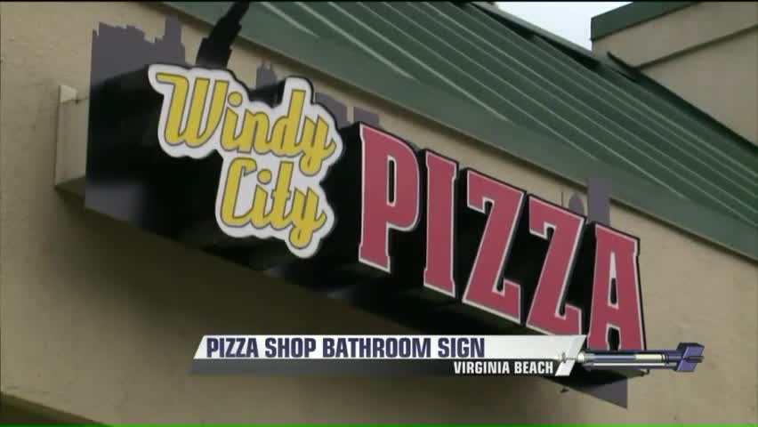 Pizza Shop Posts Controversial Sign