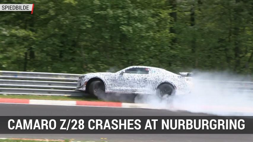 2017 Chevy Camaro Z/28 Crashes at Nurburgring | Autoblog Minute