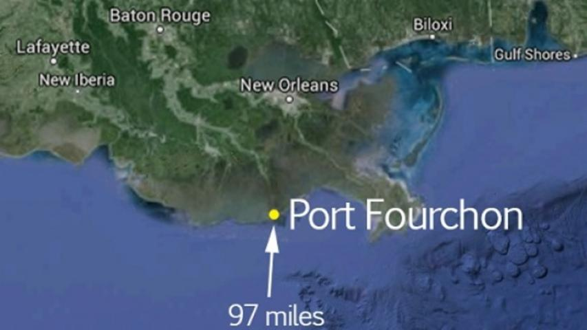 Close to 90,000 Gallons of Crude Oil Spilled Into the Gulf Of Mexico