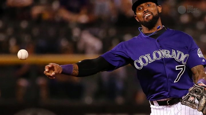 Rockies' Jose Reyes Suspended