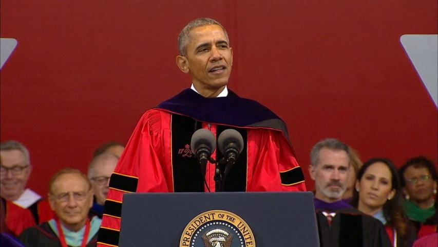Obama Attacks Trump's Stances in Rutgers Commencement Speech