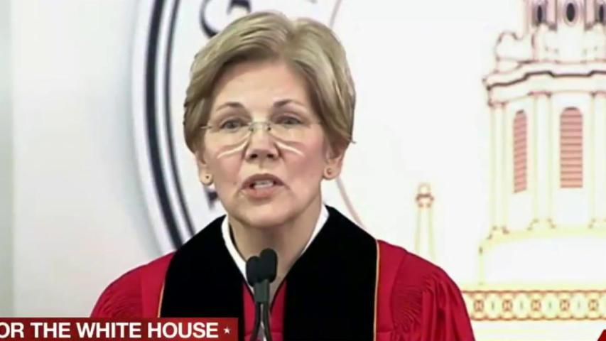 Warren knocks Trump in graduation speech