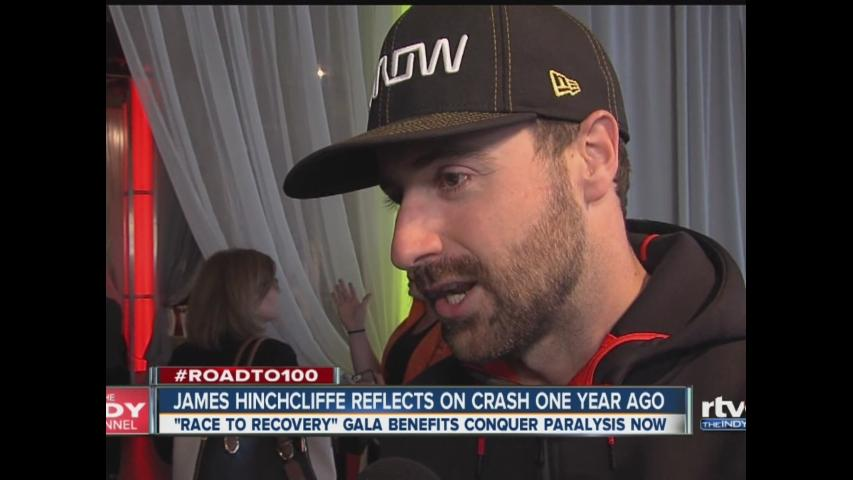 James Hinchcliffe reflects on crash one year ago
