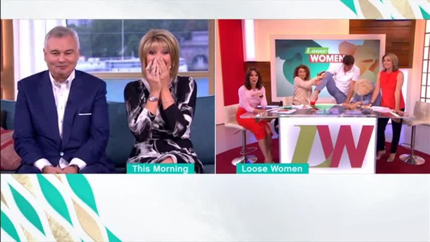 John Barrowman falls off his chair on Loose Women