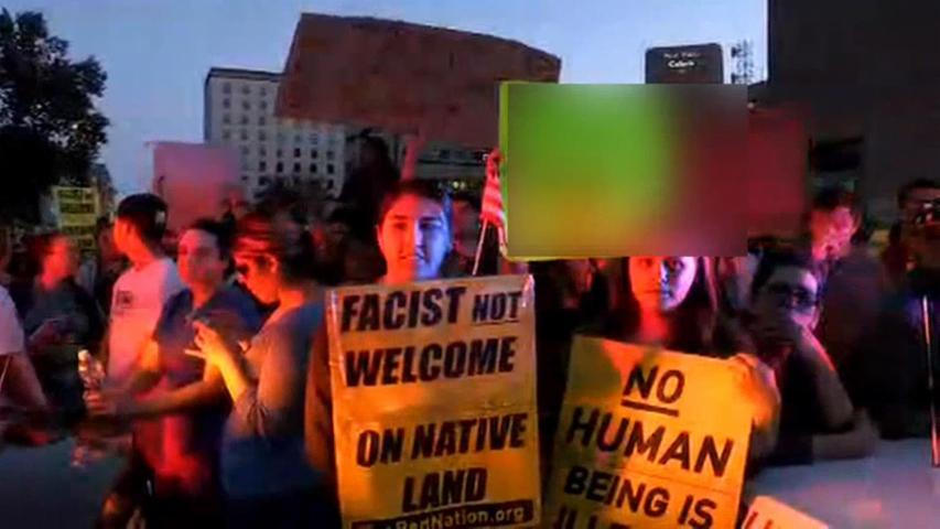 Protests Break Out at New Mexico Trump Rally