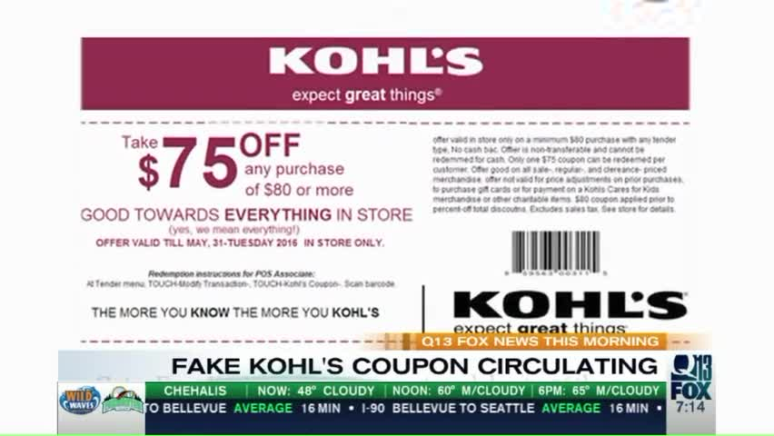 Do Not Share This Kohl's Coupon on Facebook