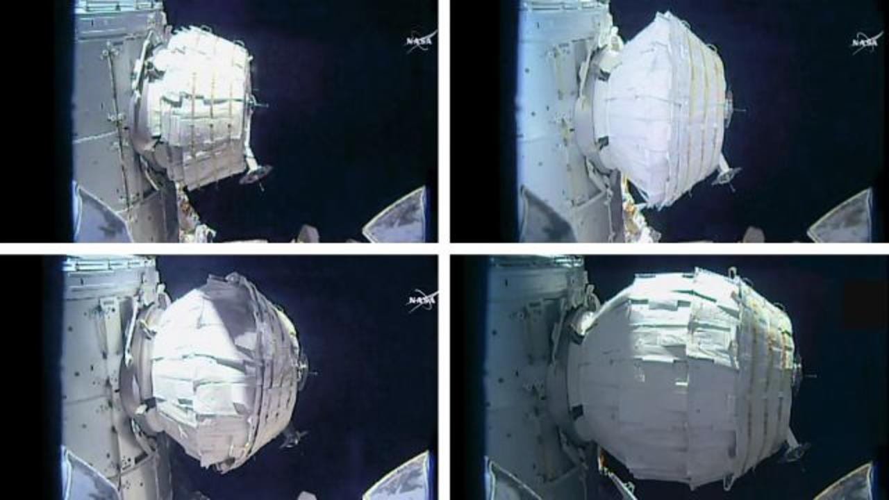 NASA Expands Inflatable Habitat in Space for First Time