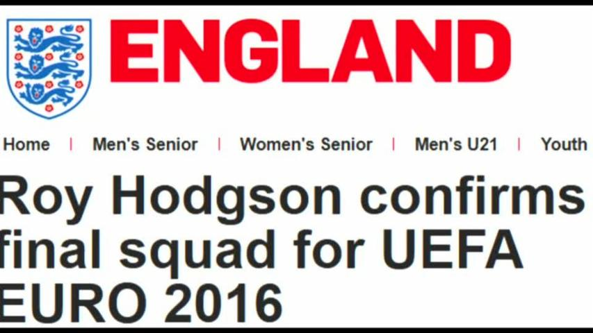 Hodgson picks Rashford and Sturridge for Euro 2016